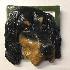Gordon Setter Dog Ceramic Relief 3D Tile Handmade 3d Pet Portrait Alexander Art