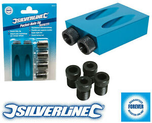 Silverline Pocket Hole Screw Jig Woodworking Carpenters Joinery Joint Tool