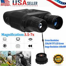 Night Vision Binoculars HD 3.5-7x Digital Zoom Hunting Telescope Camera Recorder