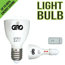 Grow1 Green Led Light Bulb W/ Remote Plant Safe Super Bright Save $ W/ Bay Hydro