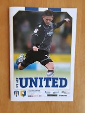 2017/18 COLCHESTER UNITED v MANSFIELD TOWN  -  NEW & UNOPENED