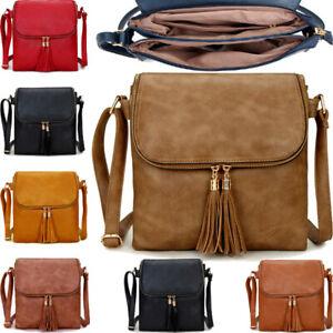 Ladies Cross Body Bag Messenger Large Over Shoulder Satchel Handbag Long Strap