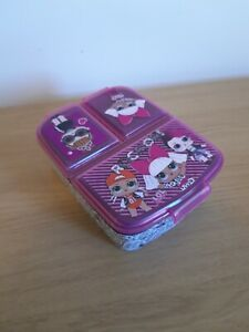 LOL Surprise Kids Lunch Box with divided sections - 3 compartments