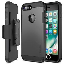 Accessories Case For iPhone 7 Plus Screen Protector Holster Belt Clip Metal New!