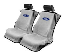 Seat Armour 2 Piece Front Car Seat Covers For Ford - Grey Terry Cloth