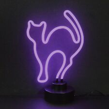 Cat neon sculpture sign lamp Halloween lamp Goth vampire Scary Gothic art light