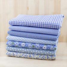7pcs 100% remiendo tela de algodón tejido DIY Tela Muñeca Vestido Decoración
