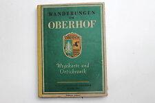 23085 Reiseführer Wanderungen um Oberhof mit Stadtplan Ortschronik 1954