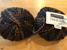 Lot of 2 Schachenmayr Nomotta TWO IN ONE Yarn 50g/80m Fall Colors Acrylic/Wool