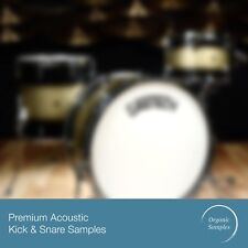 Real Kick Snare Drum 24 Bit Wav Samples. Natural Rock Pop Kit Pack + Free Extra!
