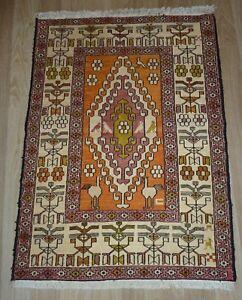 SILK Handmade Kurdish Shahsavan Soumak Caucasian Antique Kilim-Other Pair Listed