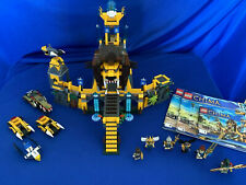 Lego Legends of Chima The Lion Chi Temple Set# 70010 -100% Complete, 7 Minifigs