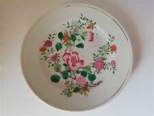 Art d'Asie plat en porcelaine chinoise fin XVIIIeme Famille rose