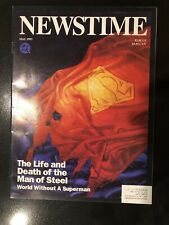 Newstime May '93 The Life And Death Of The Man Of Steel World Without A Superman