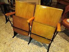 coppia sedie da cinema anni 40