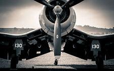 Incorniciato stampa-fissato piccoli velivoli leggeri (foto poster arte AVIAZIONE piano)