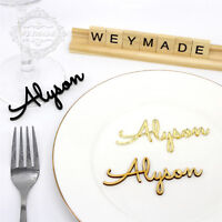 Personalized Wedding Place Name, Place Setting, Table Setting, Laser Cut Names