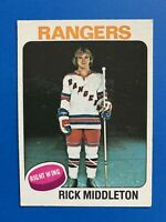 Rick Middleton 1975-76 Rookie O-Pee-Chee Hockey Card #37 New York Rangers