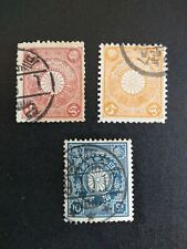 SELLOS CLÁSICOS JAPÓN 1889  3,  5 Y 10 SEN