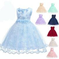 Wedding party flower formal dresses girl dress princess kid bridesmaid baby tutu