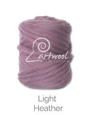 Light Heather -  1 kg 100% Merino Wool Giant Chunky Yarn Arm Knitting