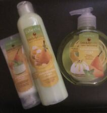Set Of Shower Gel&hand Cream&liquid Soap,caramel Pear Collection