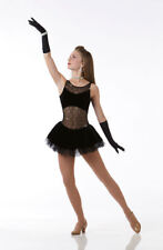 A Girls Best Friend Dance Costume Ballet Dress w/ Gloves Ice Skating Adult Large