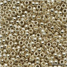 11/0 Galvanized Silver/Aluminum TOHO Round Seed Bead 10 grams # PF558