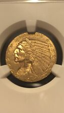 1912 $5 Gold Indian UNC Details OBV Scratched NGC Beautiful Coin
