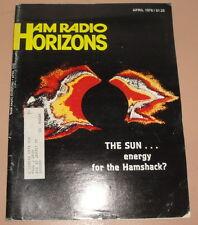 Vintage Ham Radio Horizons Magazine Issue - April 1978 - Technology Electronics