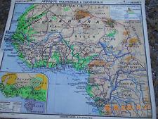 carte scolaire vidal lablache Afrique occidentale et equatoriale années 60