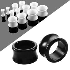 2PCS Acrylic Hollow Ear Tunnel Plugs Double Flared Ear Gauges Piercings 3mm-20mm