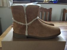 UGG Women Brown Tan Coletta Leather Suede Casual Boots UK Size 3