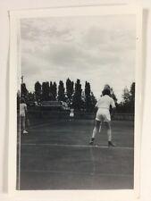 Vintage BW Real Photograph #AK: Tennis Match : Coaches
