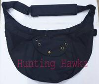Falconry Cordura Bandoloero Bag, Hunting side Bag,black color Hawking Bag