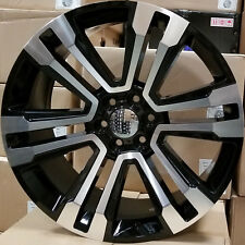 22 GMC Replica Rims Black 2018 Style Wheels Fit Tahoe Silverado Sierra Yukon