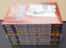 New Diary of a Wimpy Kid 1-8 Book Paperback sealed Jeff Kinney 2 3 4 5 6 7 Lot