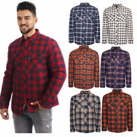 River Road Mens Padded Quilted Lined Shirt Lumberjack Flannel Fleece Work Jacket