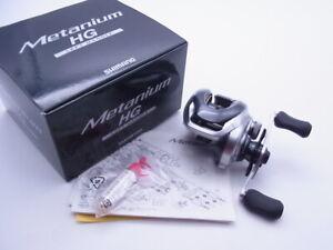 13 Shimano Metanium HG Right Handle 7.4:1 Gear Baitcasting Reel VG+ W/Box