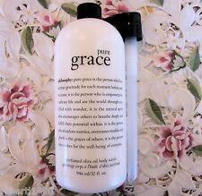 PHILOSOPHY~PURE GRACE~Perfumed OLIVE OIL BODY SCRUB~Super-sized 32 oz w/ Pump