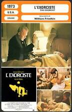 FICHE CINEMA : L'EXORCISTE - Burstyn,Von Sydow,Blair,Friedkin 1973  The Exorcist
