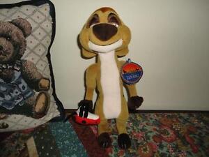 Walt Disney Exclusive Lion King TIMON Stuffed Meerkat with Ladybug 11 inch