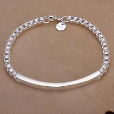 Lovely women lady Silver Noble Fashion Elegant Charm CHAIN Bracelet gift H79