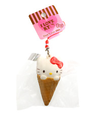 SANRIO HELLO KITTY Ice Cream Cone Cute Kawaii Squishy Toy Charm Rare Squishy