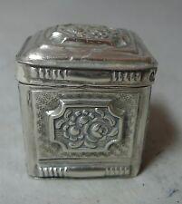 Antique Dutch Silver Peppermint Box 1858 24g A602017