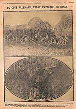Soldiers Feldgrauen Deutsches Heer  Bataille de la Vosges  WWI 1915