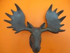 Resin Moose Deer Head Antler Wall Mount Ornament Mantel Staging Home Decor Bronz