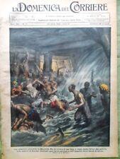 La Domenica del Corriere 22 Aprile 1928 Miniera Manciuria Nobile Littorio Baggio
