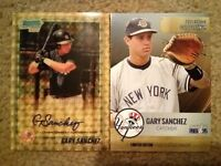 Gary Sanchez Rare 2010 Bowman #BCP207 Auto RP SR#d 1/1 2015 Gold Rookie RC Lot $
