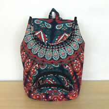 New Indian Mandala Backpack Cotton Unisex Fashion Bags With Adjustable Strap